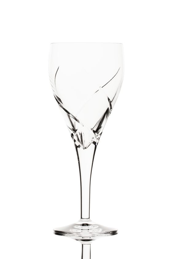 wine glass, crystal wine glass, crystal, still-life